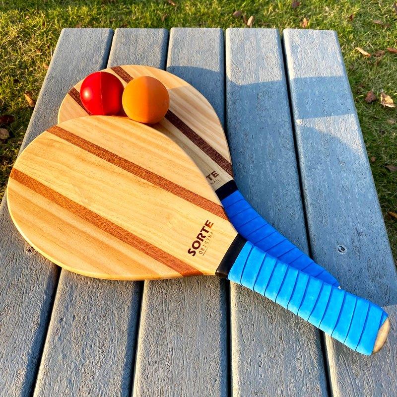 フレスコボールラケットセットIpanema【SORTE ORIGINAL】屋外・屋内ボール2個セット&専用トートバッグ付き