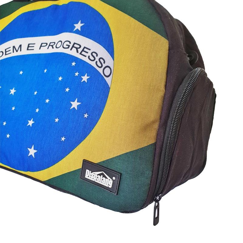 【ブラジル国旗柄】大容量ボストンバッグ【BRASIL】 | ブラック