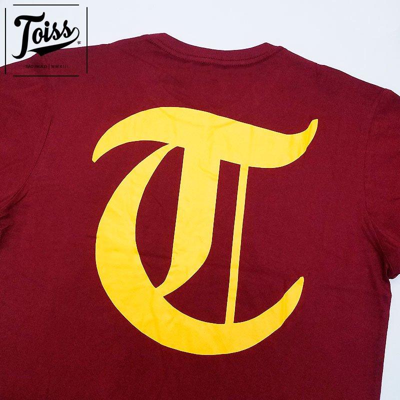 ■30%OFF■【TOISS】ロングTシャツ 【ネイマール愛用ブランド】Tロゴ  ボルドー