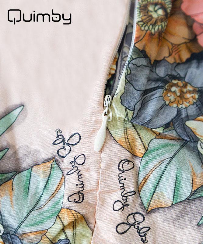 ■30% OFF■ 【QUIMBY】女の子ドレス【子供服・パーティー】お花柄クラシカル|ピーチ
