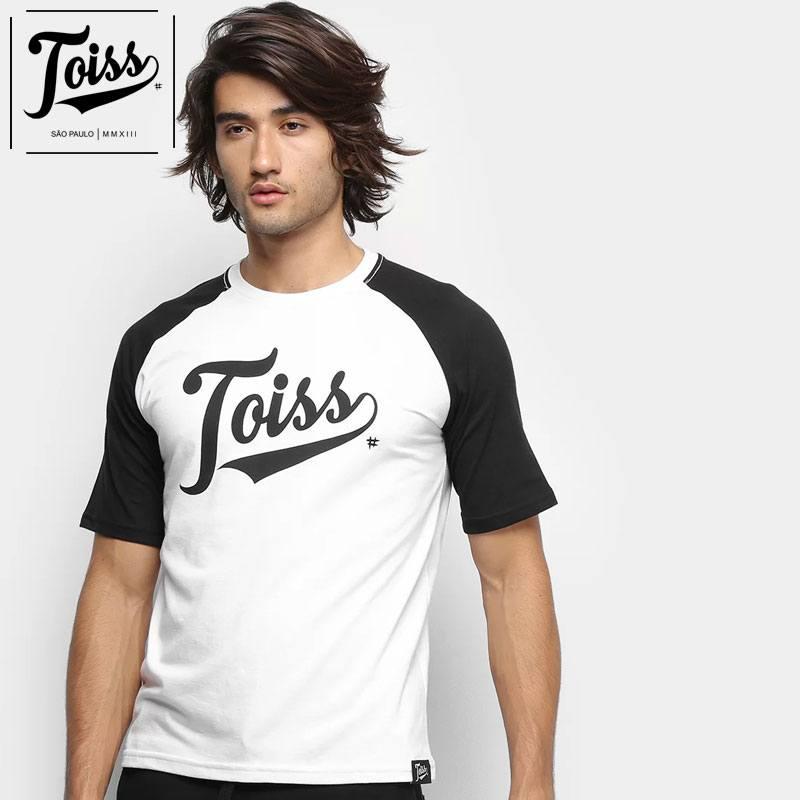 【TOISS】トイス ラグラン袖オリジナルロゴTシャツ RAGLAN | ホワイト×ブラック