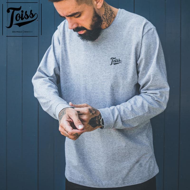 【TOISS】ToissロゴデザインロンT ロングTシャツ グレー ネイマールブランド