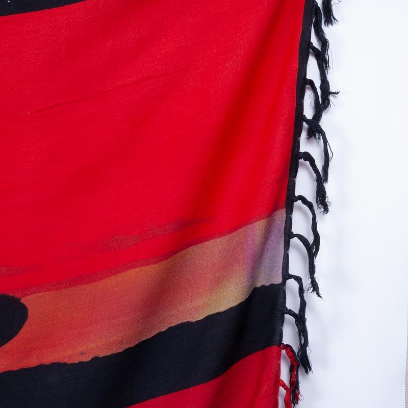 カポエイラ柄 SALVADOR【ブラジルカンガ】大判クロス ラスタカラー パレオ