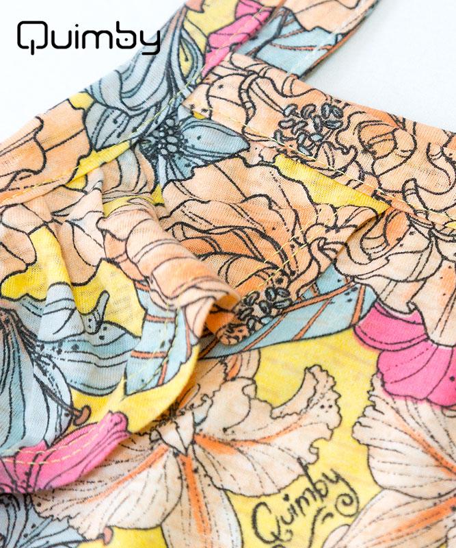 ■30% OFF■ 【QUIMBY】女の子ワンピース【子供服・おしゃれ着】フラワーガーデン イエロー