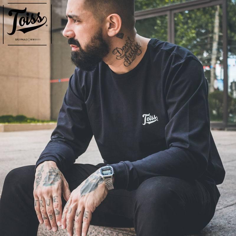 【TOISS】ToissロゴデザインロンT ロングTシャツ ブラック ネイマールブランド