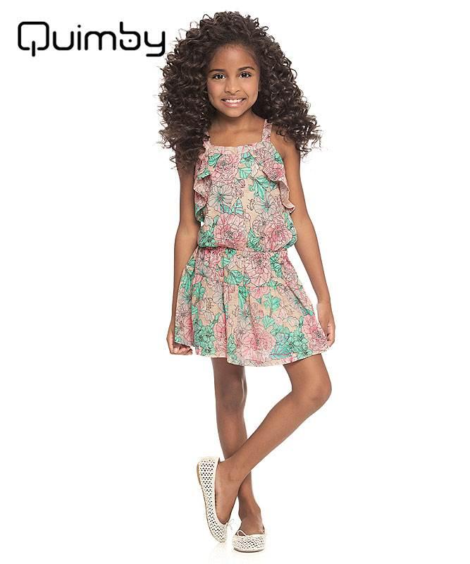 ■30% OFF■ 【QUIMBY】女の子ワンピース【子供服・おしゃれ着】フラワーガーデン アイボリー
