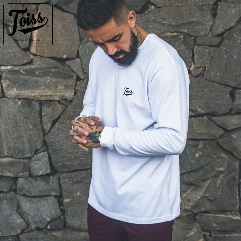 【TOISS】ToissロゴデザインロンT ロングTシャツ ホワイト ネイマールブランド