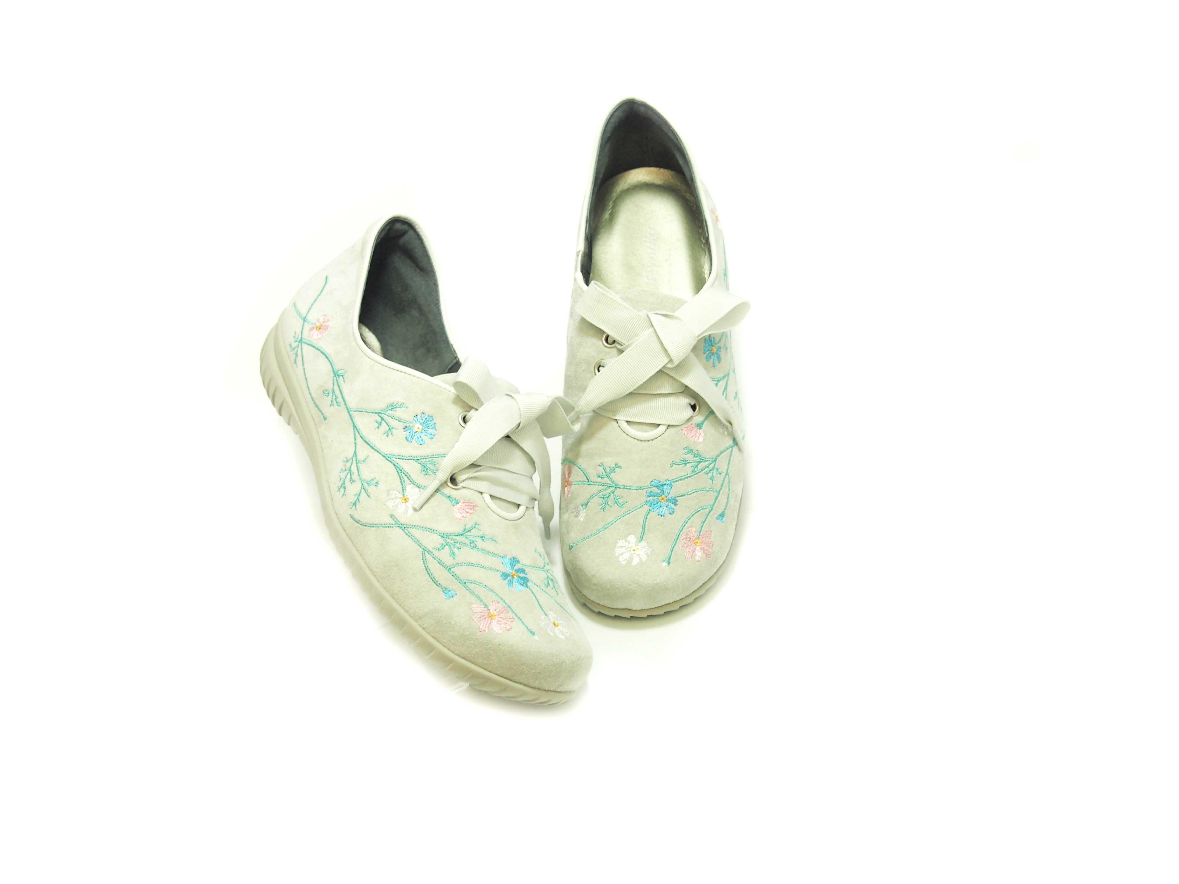 ミスキョウコ 4E花柄刺繍スニーカー 12107(6910)