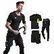 ライムグリーン×ブラック 3点セット メンズ スポーツウェア セット トレーニングウェア 3点セット 通気 防臭 速乾 ジムウェア