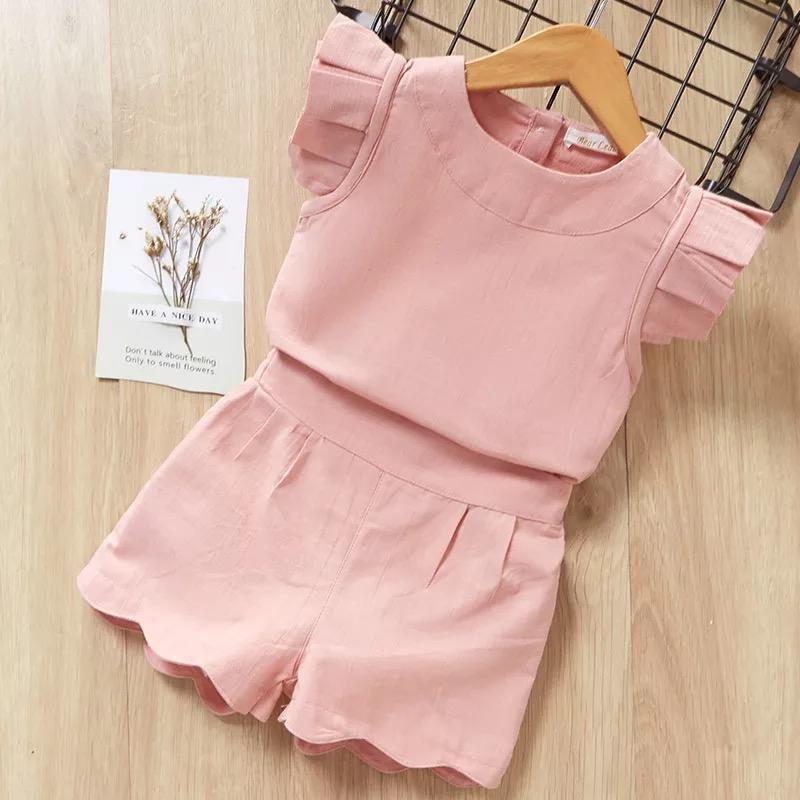 キッズ&ベビー 半袖+パンツ ドレスセット