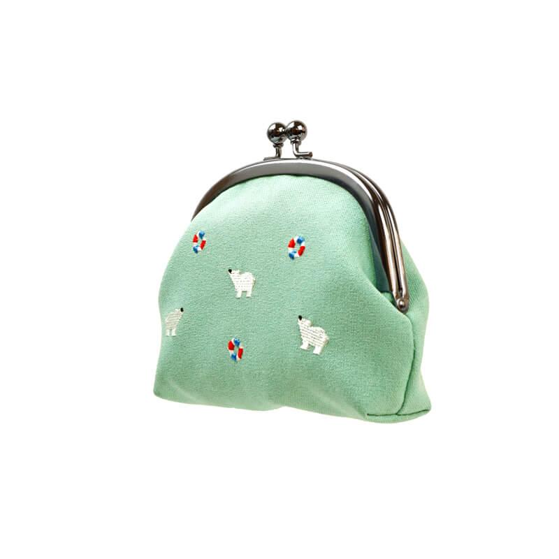とび刺繍4.0くしマチ シロクマグリーン