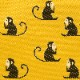 がま口 財布 / ジャガード動物3.8親子 サルイエロー