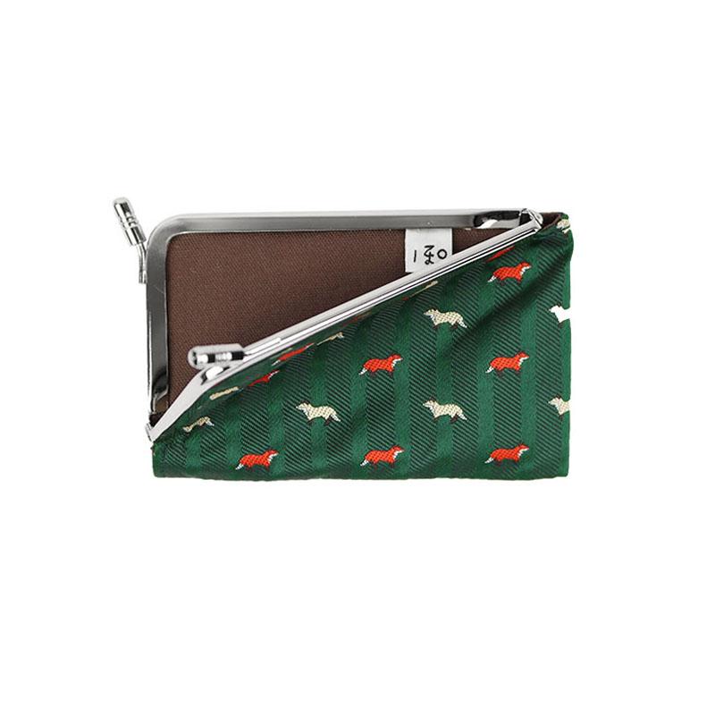 がま口 カードケース / ガラント3.3カードケース キツネグリーン