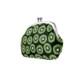 がま口 財布 / フルーツパターン4.3仕切り付き キウイ