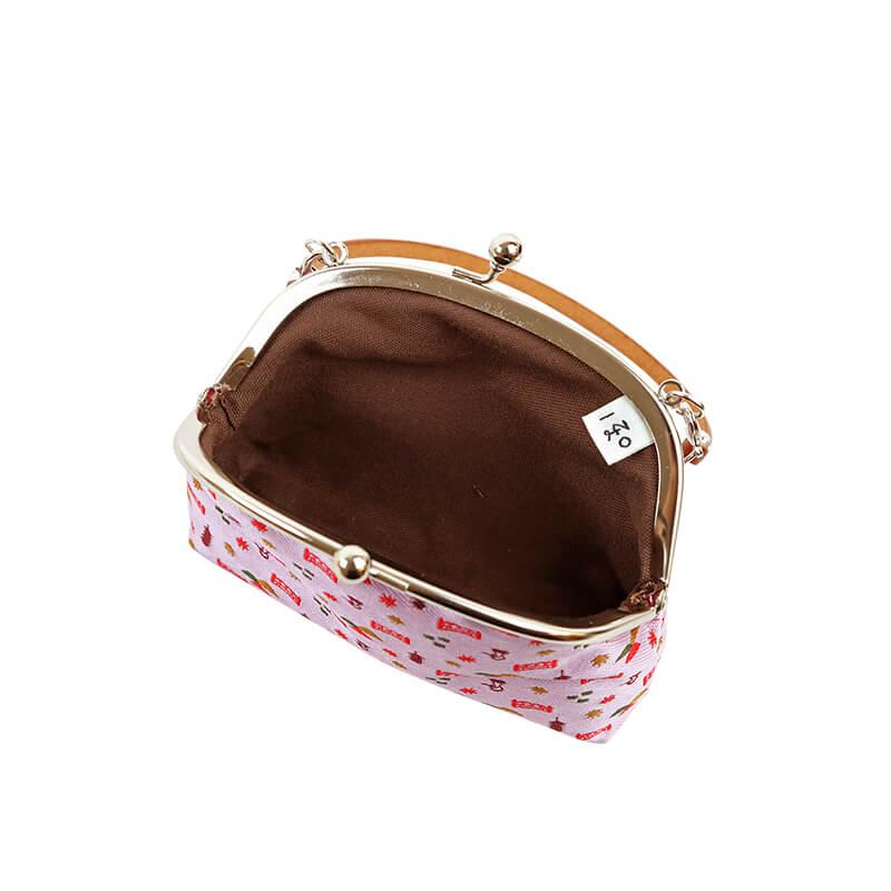 秋の京都ジャガード4.0くし手提げ ピンク