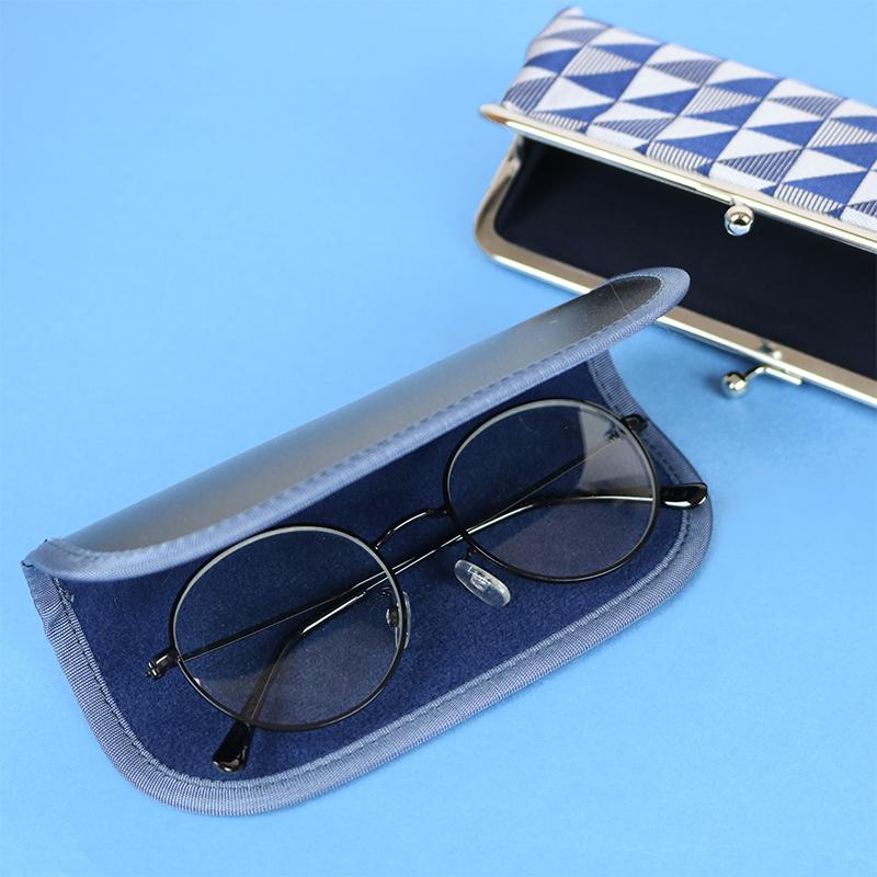 がま口 メガネケース / 和文様5.5メガネケース ウロコ紺
