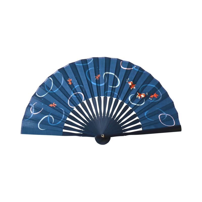 夏模様刺繍扇子 金魚 [カランコロン京都]