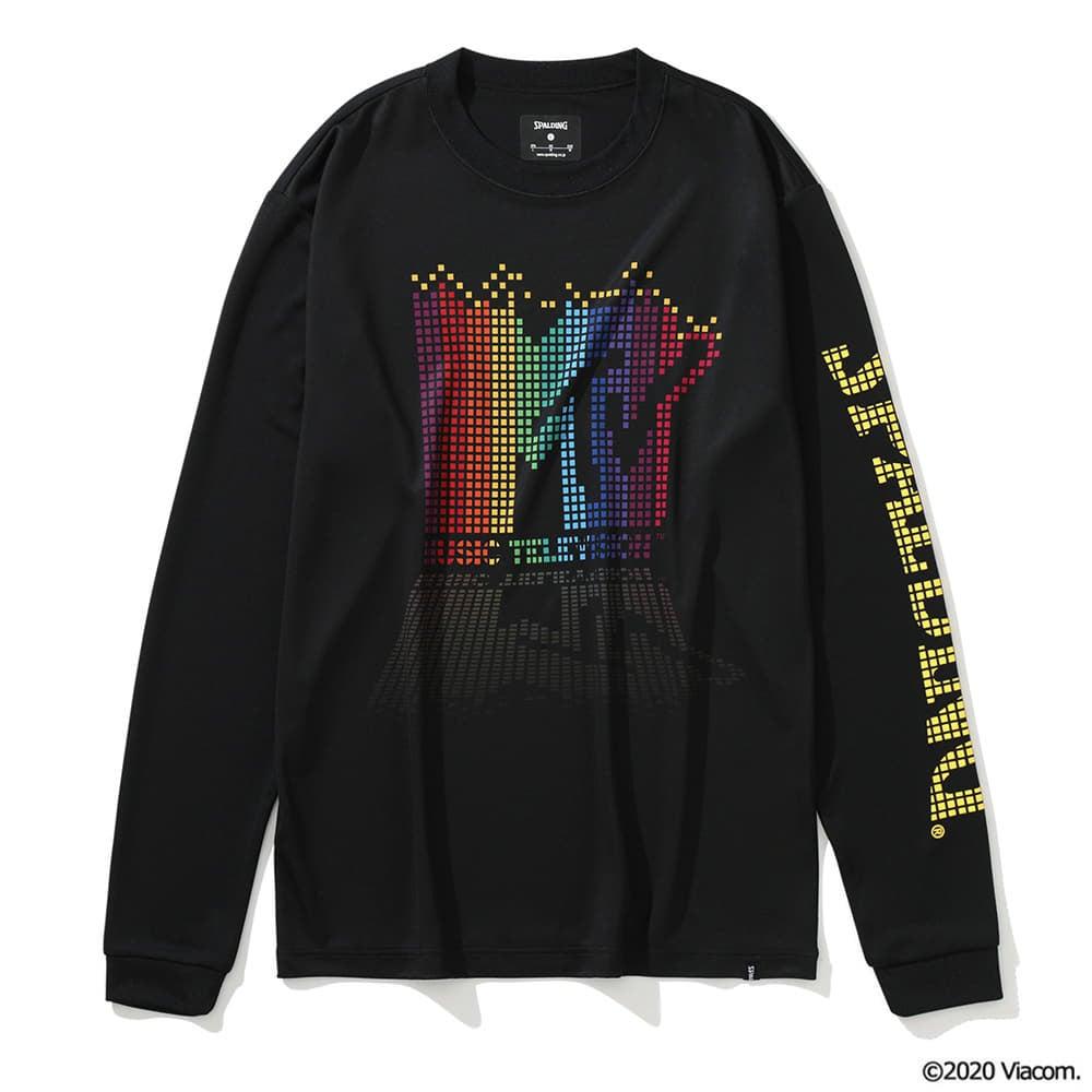 ロングスリーブTシャツ MTV レインボーピクセルアート SMT201550