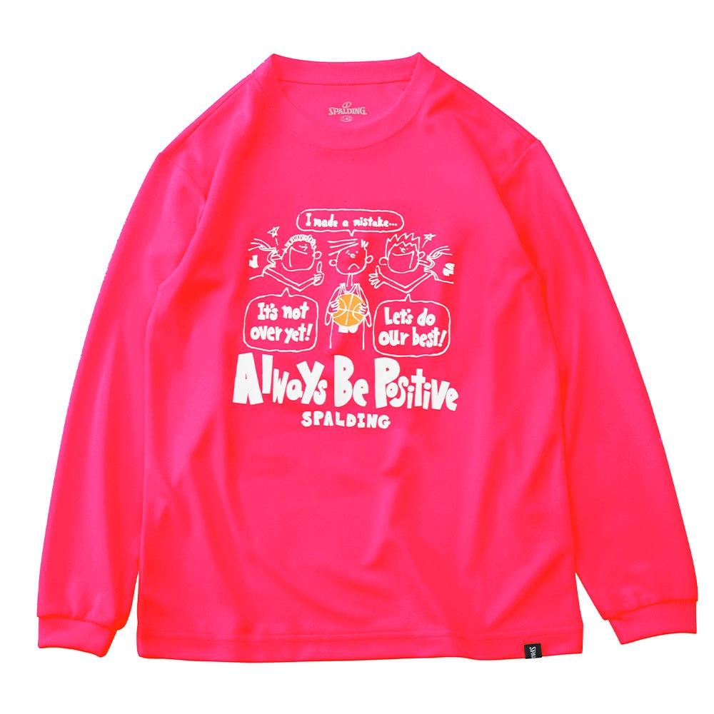 ジュニア ロングスリーブ Tシャツ ポジティブ SJT191600
