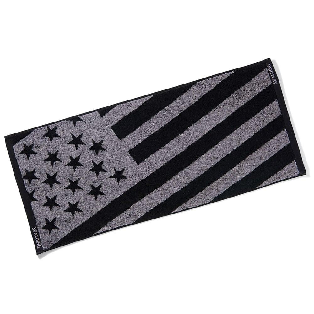 ジャカードタオル USフラッグ ブラック SAT211040