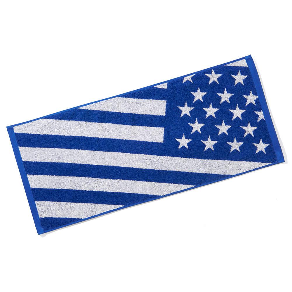 ジャカードタオル USフラッグ ブルー SAT211060