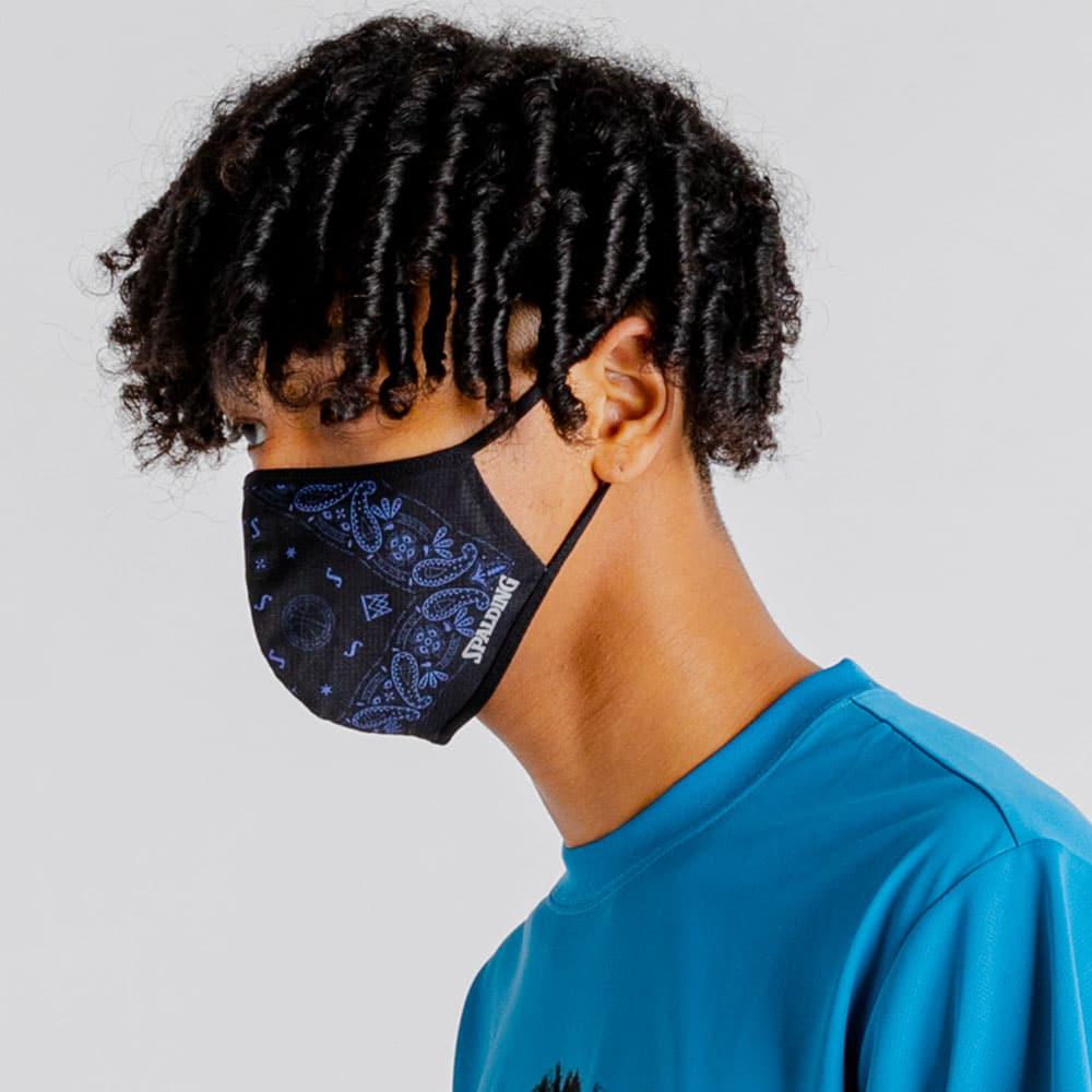 フェイスマスク バンダナ ブラック 16-001BB