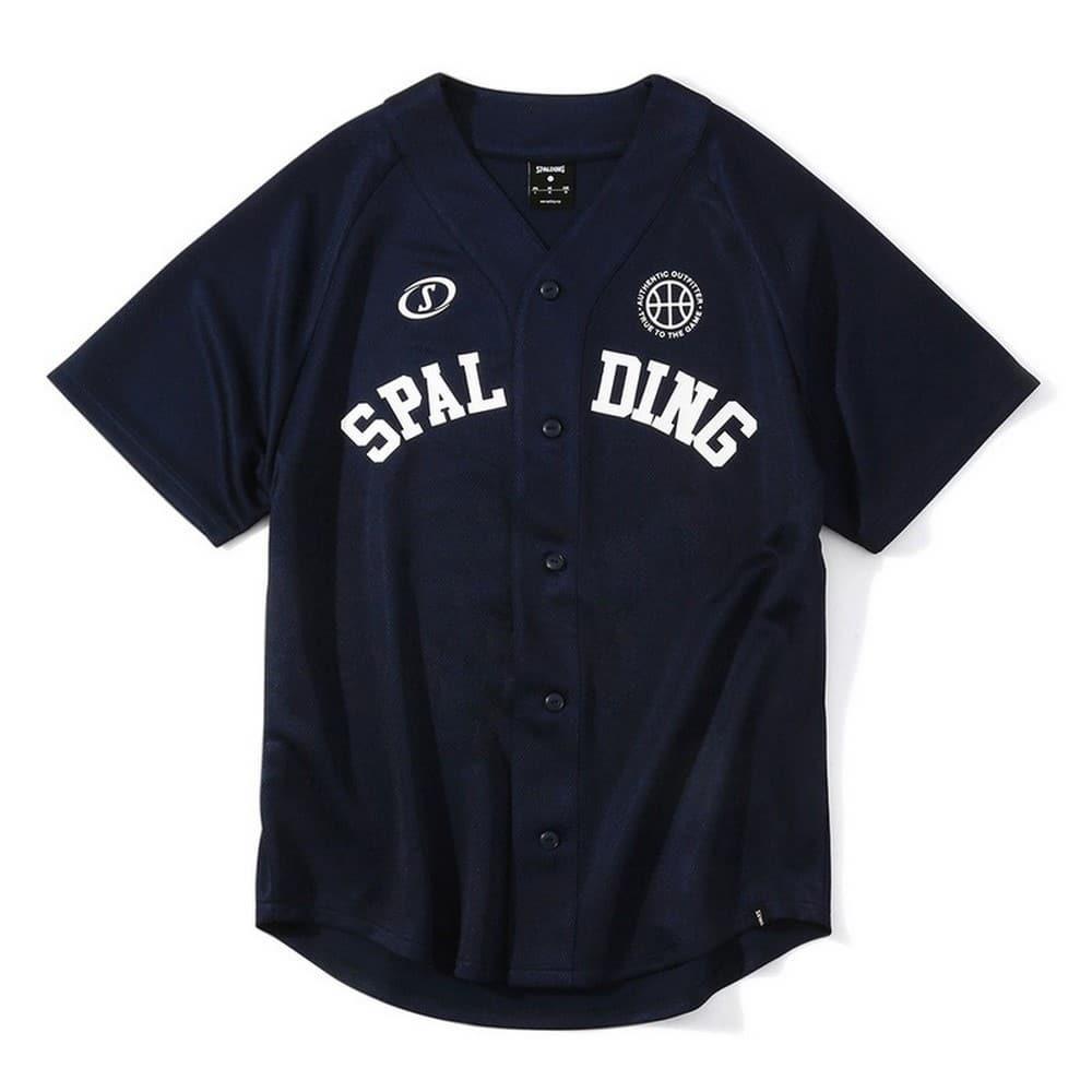 ベースボールシャツ スポルディングロゴ SMJ201420