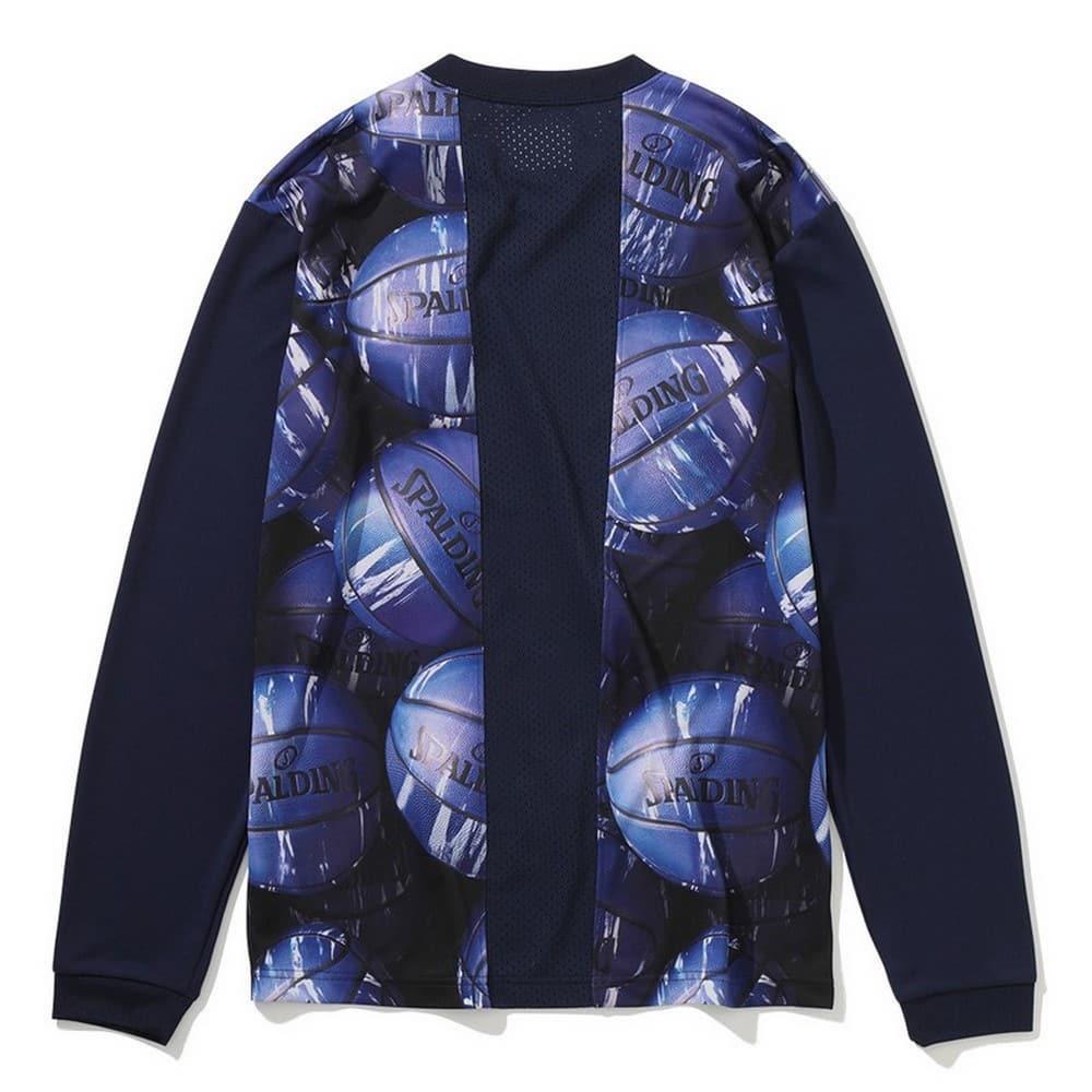 ロングスリーブTシャツ マーブルボールバックプリント SMT201130