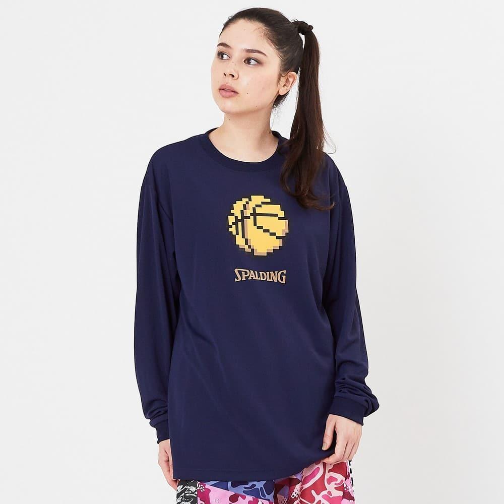 ロングスリーブTシャツ ピクセルバスケットボール SMT201290