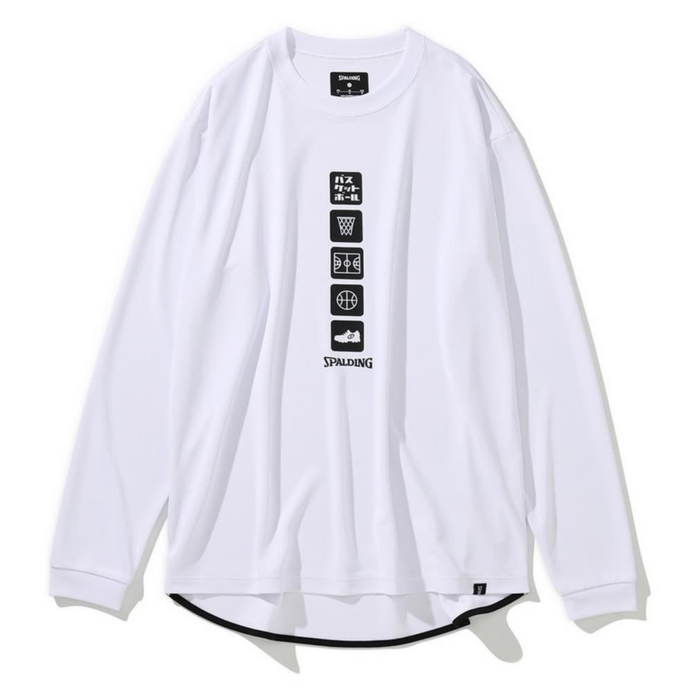 ロングスリーブTシャツ バスケットボールアイコン SMT201390