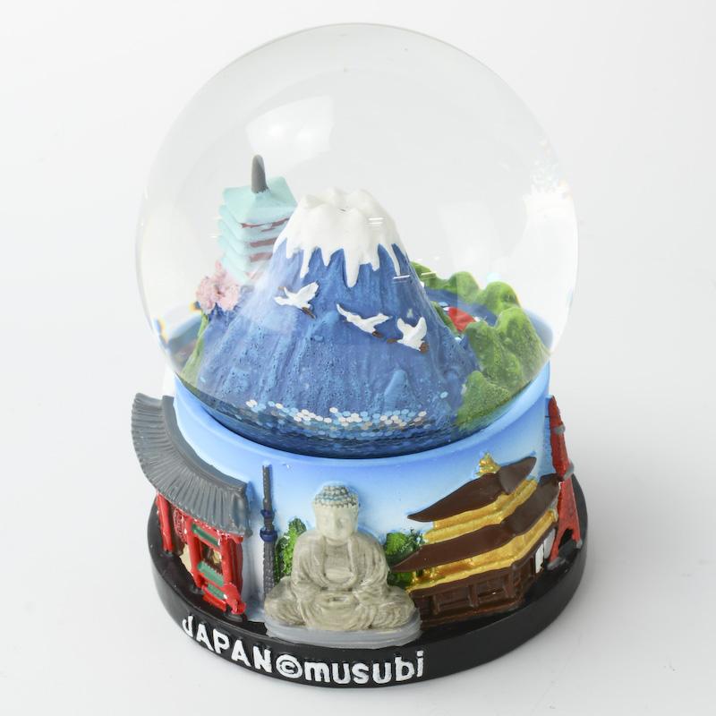 【musubi】スノードーム 旅ドーム 日本(富士山) Snowglobe : Japan-Mount Fuji
