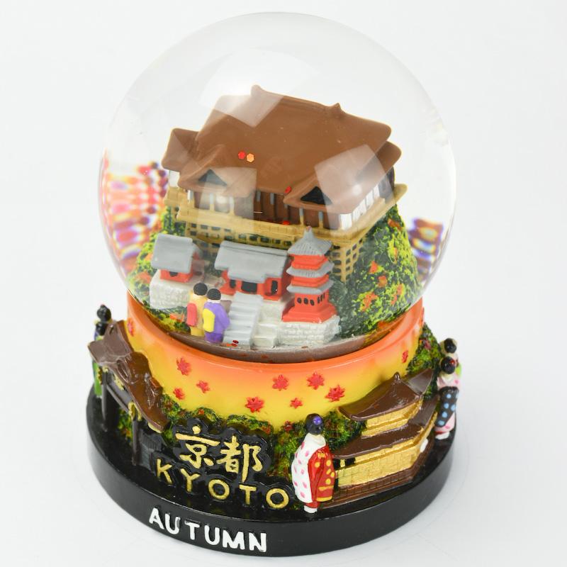 【musubi】スノードーム 旅ドーム 京都(秋) Snowglobe : Kyoto-Autumn