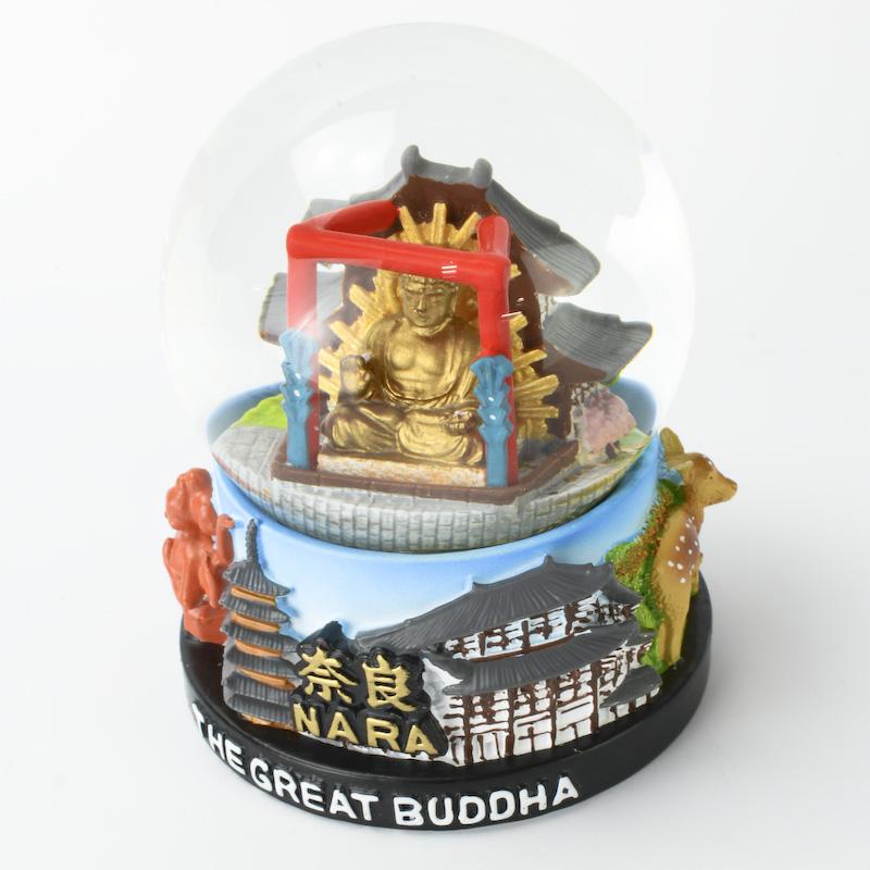 【musubi】スノードーム 旅ドーム 奈良(大仏) Snowglobe : Nara-Great Buddha