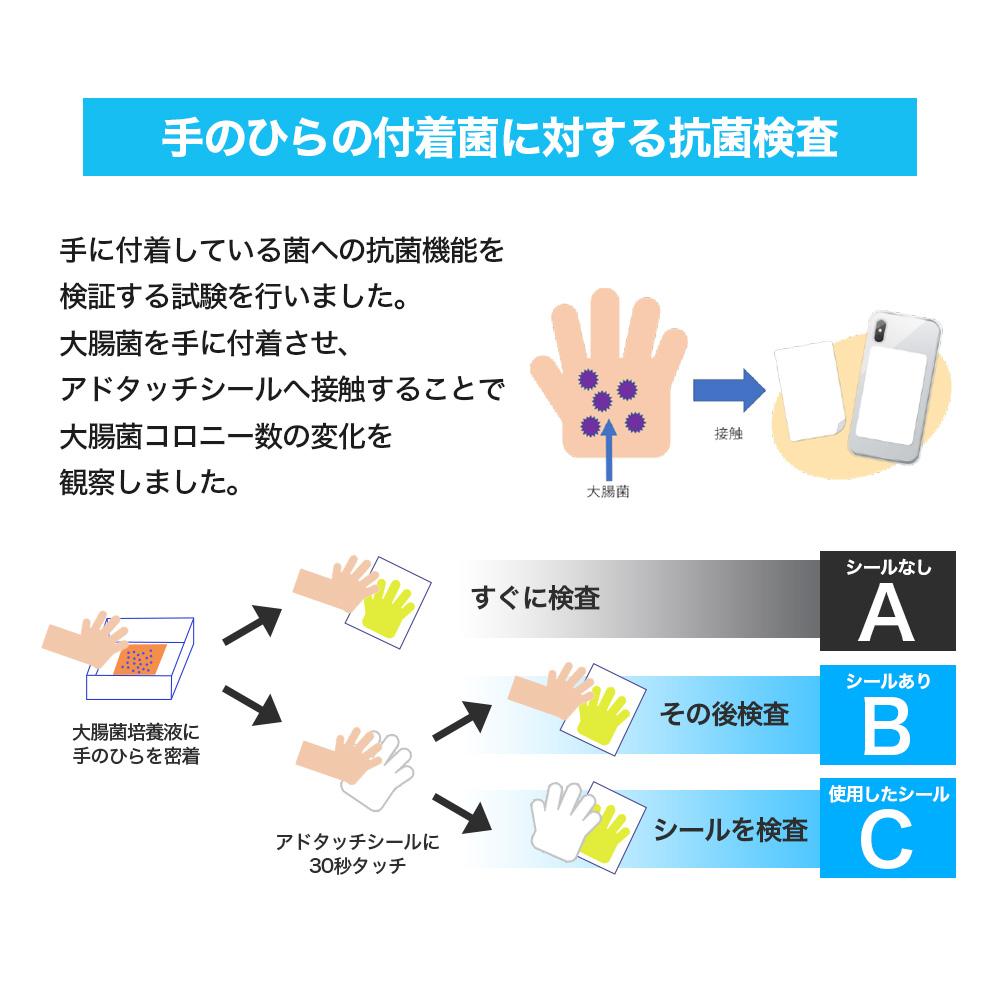 数量限定価格 アドタッチシール 抗菌 抗ウイルス 消臭 ウイルス対策 スマホ用 シート フィルム 予防 メール便*