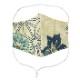 EM019 洗える 和布マスク 浴衣生地 国産さらし生地 ノーズフィッター付き 男女兼用 布マスク おしゃれ 日本製 繰り返し メール便*