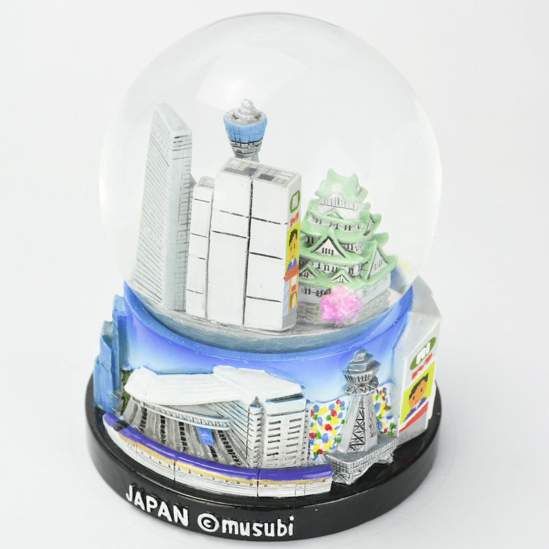 【musubi】スノードーム 旅ドーム 大阪(ミックス) Snowglobe : Osaka-Mix