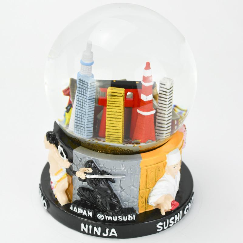 【musubi】スノードーム 旅ドーム 東京(ミックス) Snowglobe : Tokyo-MIX