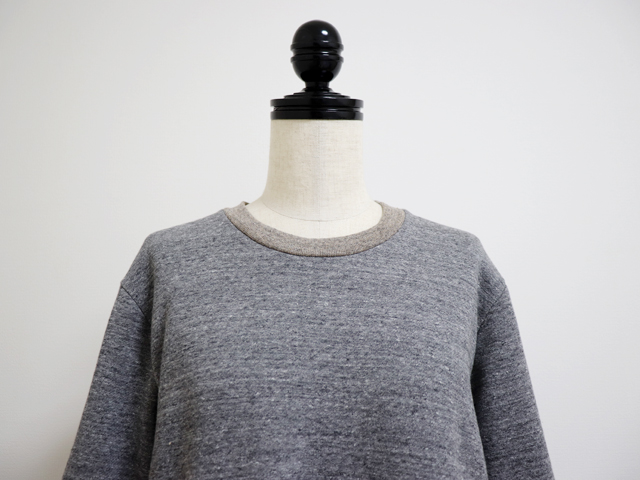 yohaku( 余白 )綿100%の柔らかく軽  やかなスウェット素材の茶綿裏毛トレ  ーナーワンピース