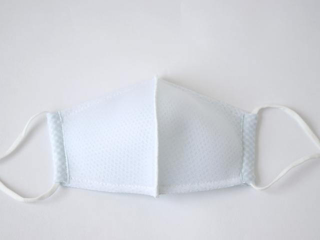 [ネコポスOK] 放熱 & 接触冷感 蒸れずに涼しい立体メッシュマスク ( M ・ L / ホワイト ・ ネイビーブラック )