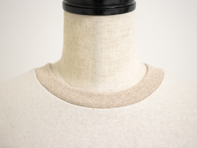 yohaku(余白)程よい厚みの生地感 着心地の良い オーガニックコットントレーナー(T0001)