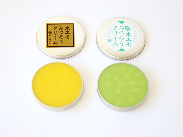 [ネコポスOK]尾山製材 木工用みつろうクリーム40g(緑茶)