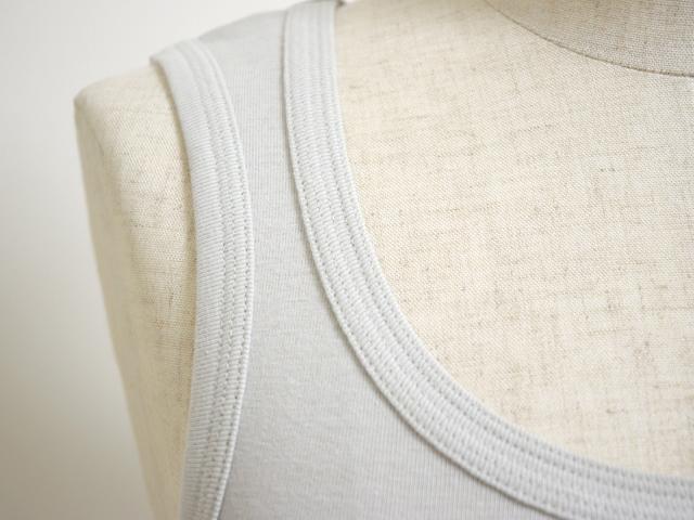 [ネコポスOK]yohaku(余白)程よいフィット感が気持ちいい、伸縮性に優れた綿100%生地 5本のステッチで襟がよれない! 丈夫で長持ち 5本針タンクトップ(T0010)