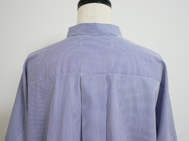 スタンプアンドダイアリー 柔らかくしなやかで着心地がいい ビッグシャツ ( コンストライプ )