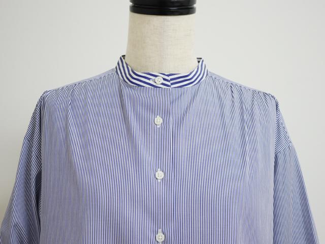 スタンプアンドダイアリー 柔らかくしなやかで着心地がいい 遊び心のある軽やかシャツ ( コンストライプ )