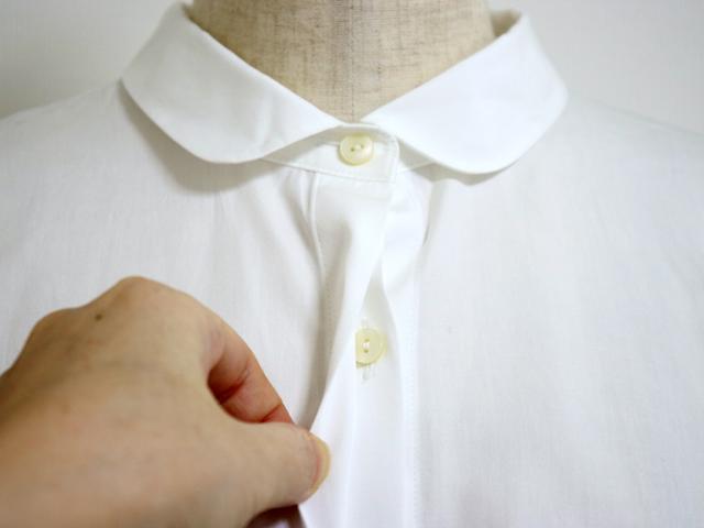 スタンプアンドダイアリー 綿100%の滑らかな肌触り たっぷりタックでふんわりシルエットの長袖ブラウス