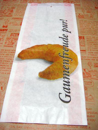 ドイツのパン屋さん用 クロワッサン 紙袋 マルシェ袋 5枚又は10枚セット【メール便OK】