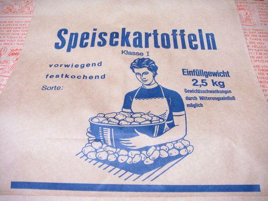 ドイツ ジャガイモ用 紙袋 マルシェ袋 5枚又は10枚セット