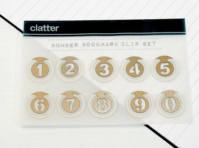 clatter ナンバーブックマーククリップ 【メール便OK】