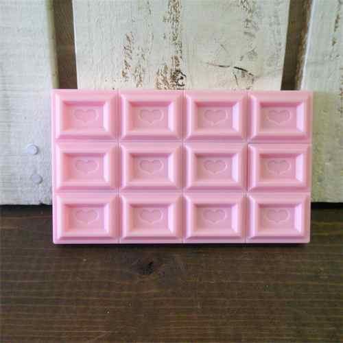 チョコレート電卓 ツートーンカラー (ホワイト・ピンク)