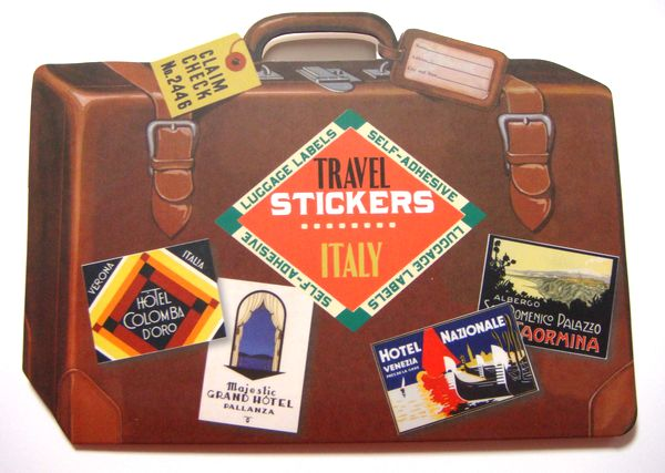 TRAVEL LUGGAGE LABELSステッカー ITALY【メール便OK】